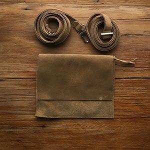 NWOT suede belt bag